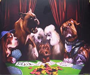 8x10 Poster Print Glossy Dogs Playing Poker Cheating