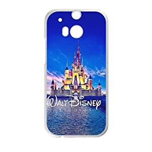 HTC One M8 Cell Phone Case White Walt Disney Studios Castle Illust Lycre