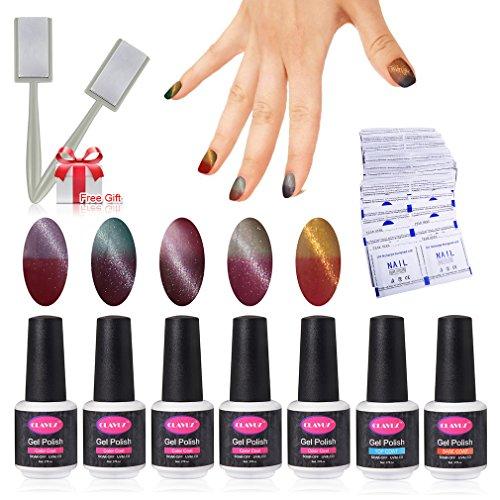 Gel Nail Polish Set 5pcs Magnetic Color Changing Nail Polish