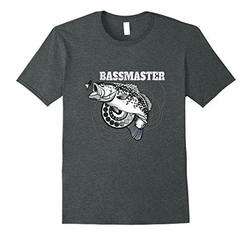 Mens Bassmaster Bass Fly Fishing Lovers T Shirt Large Dark Heather