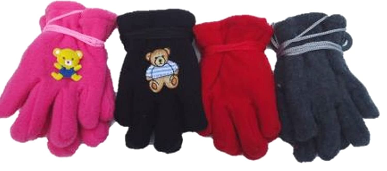 wholesale Four Pairs of One Size Fleece Microfiber Glovesfor Infants for Ages 0-12 Months supplies