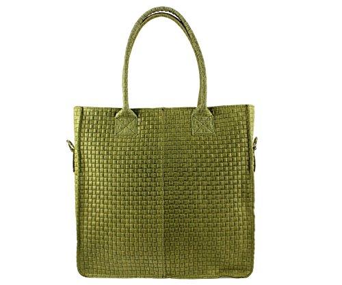 sac A Femme Vert Sac Femme sac sac Italie Olive Cabas Coloris Cabas sac sac sac Chloly Cuir Plusieurs cuir Tressy Sac Cuir Cabas p0q1RUWwA