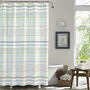 51JHW6oEOfL._SS300_ Beach Shower Curtains & Nautical Shower Curtains