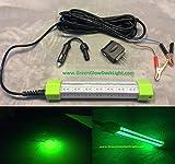 Green Glow Dock Light LED 40 Watt, Fishing Light, 4,536 Lumens w/Accessories