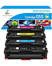True Image Compatible Toner Cartridge Replacement for Canon 055 055H Toner Canon Color imageCLASS MF743Cdw MF741Cdw MF745Cdw MF746Cdw LBP664Cdw Printer with Chip (Black Cyan Magenta Yellow, 4-Pack) photo