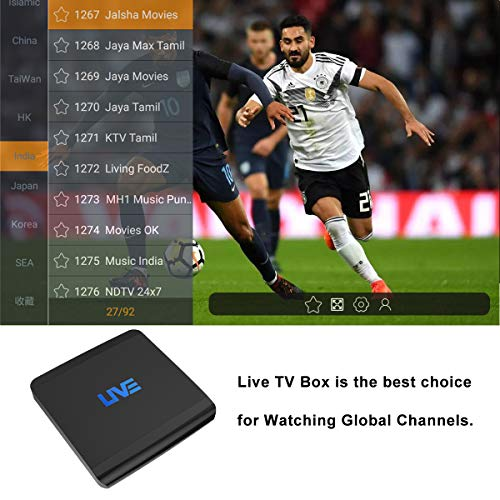 International Smart TV Set Top Box 1500+ Global Live Channels VIP Channels  for Adults Ethernet Receiver Android Lifetime Subscription Including