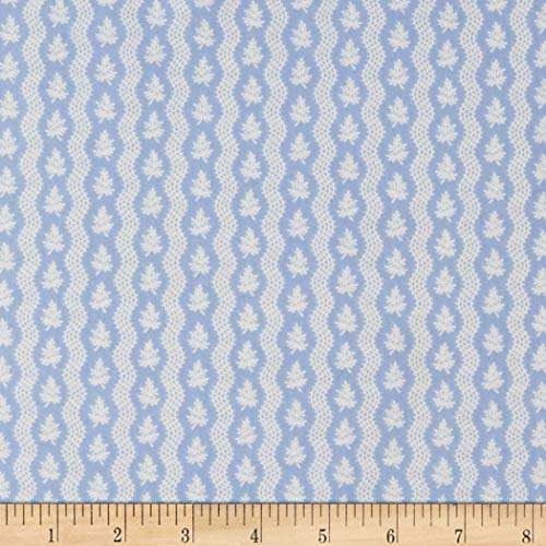 (Windham Fabrics Colonial Williamsburg Serpentine Stripe Light Blue Fabric Fabric by the Yard)