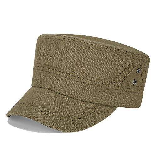 1c8a2b91dc8 Vankerful Men s Twill Cotton Peaked Baseball Cap Cadet Army Cap Military  Corps Hat Cap Visor Flat