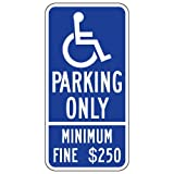 STOPSignsAndMore - R99C California Disabled Parking Space Sign - 12x24