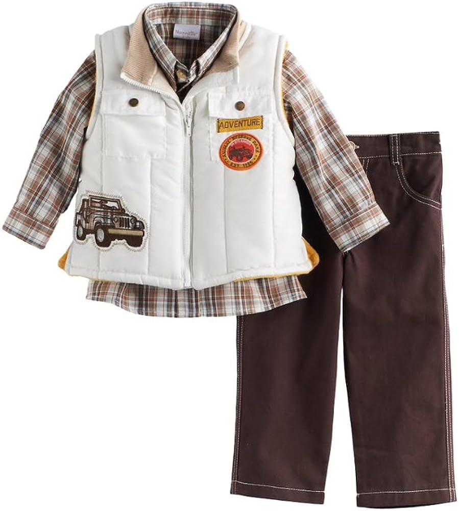 Nannette Boys Toddler 3 Piece Dressy Vest Sets