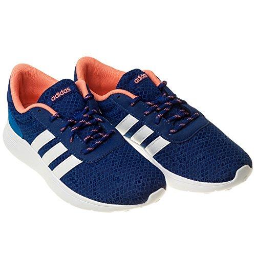 adidas Women's Lite Racer W Fitness Shoes, Black, 4 UK Blue-white