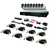 REVO America RT161B8G-2T T-HD 16-Channel 2TB DVR Surveillance System with 8 T-HD 1080p Bullet Cameras (White)