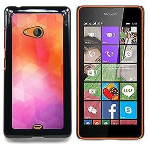 SKCASE Center / Funda Carcasa protectora - Geometría de neón;;;;;;;; - Nokia Lumia 540