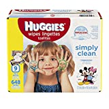 #7: HUGGIES Simply Clean Baby Wipes, Unscented, Soft Pack , 72 Count, Pack of 9 (648 Total)