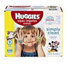 HUGGIES Simply Clean Unscented Soft Baby Wipes, 72 Count, Pack of 9 (648 Total)