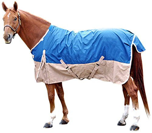 Waterproof Horse Sheet (Intrepid International Free Runner Turnout Rain Sheet, Royal Blue, 74