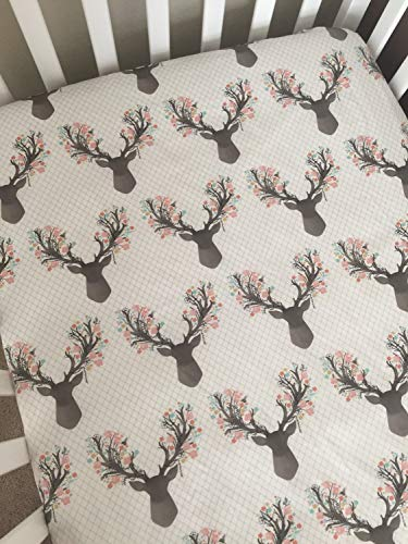 Crib Sheet - Floral Deer