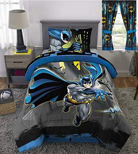 Amazon.com: Franco Mfg Batman Twin Bed in a Bag and Matching