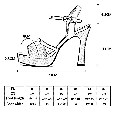 de Chaussures Confort Silver femmes Peep Toe Été pour pour HAIZHEN Pour et Soirée Mariage Sandales Nouveauté chaussures Femmes PU Automne femmes Stiletto Talon Boucle Fête xwqfUS