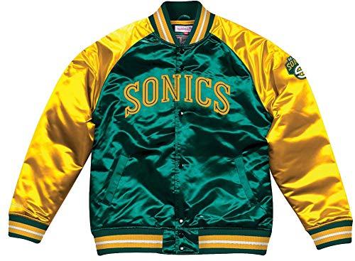 Seattle Multicoloured Jacket Ness Bomber College Season Nba Satin amp; Hwc Mitchell Jacke Supersonics Tough AOwqEzpx5