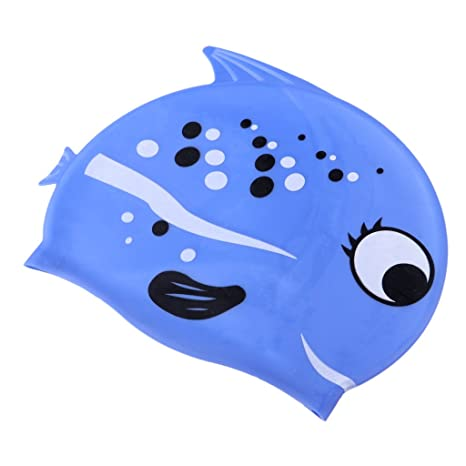 d19b750eb8db Homyl Cuffia da Piscina in Silicone Resistente Flessibile Accessori di Nuoto  per Bambini - Blu Pescebobo