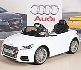Audi TTs 12V Kids Ride On Battery Powered Wheels Car + RC Remote - White