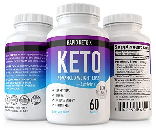 Rapid Keto X Keto Pills for Weight Loss and Fat Burn