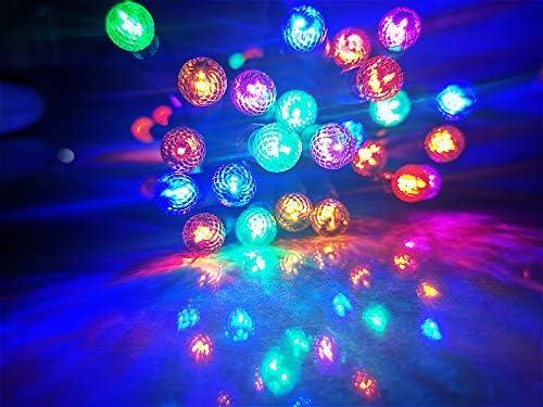 Borita G12 Outdoor Christmas Light String Stay-On 17Ft 50 LEDs Muti Colored Indoor Xmas Mood Lighting,Home Garden Balcony Party Holiday Halloween Festive Decorative Lighting