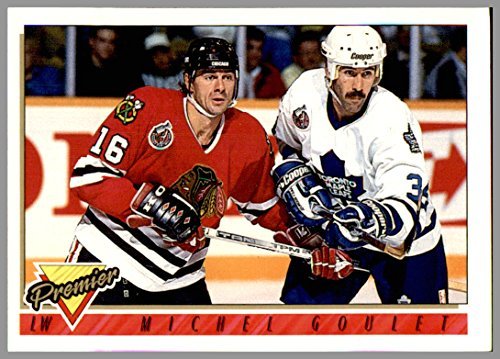 1993-94 Topps Premier #386 Michel Goulet CHICAGO BLACKHAWKS