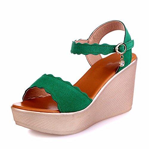 E con Scarpe verde YUCH Sandali Donna Fondo La Giornaliera Pendenza Spesso Enx8fv80w6