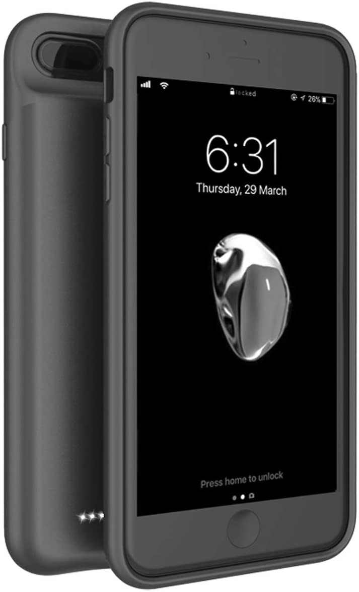 IBESTWIN Battery Case for iPhone 6/6s/7/8, 5600mAh Portable Protective Rechargeable Charging Case for iPhone 6/6s/7/8, 4.7 Inch(Black)