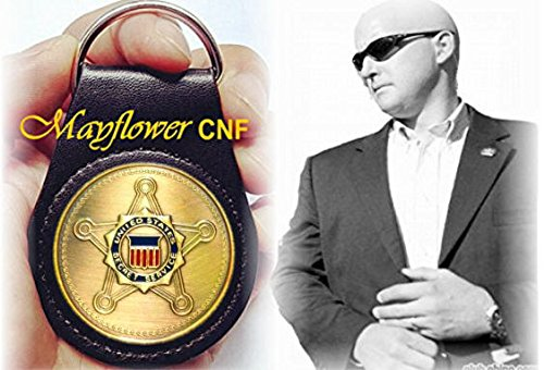 Mayflower CNF Coin &Leather Holder, United States Secret Service, Protection &Investigation - USSS Limited Edition, United States Secret Service coin of Security Reminder