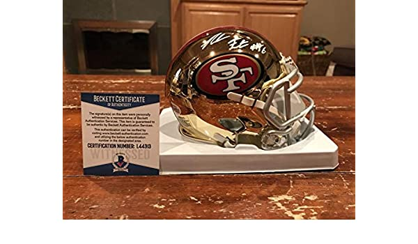 5ad46de9424 Amazon.com  Signed Reuben Foster Mini Helmet - Chrome Witness Beckett -  Beckett Authentication - Autographed NFL Mini Helmets  Sports Collectibles