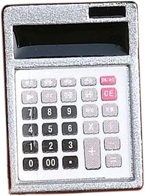 Ogquaton Puppenhaus Metall Rechner Home Office Schule Miniatur Zubeh/ör Dekor Geschenk praktisch