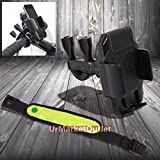 Bicycle/Bike/Golf Cart Mount Holder Cradle Photo For Cell Mobile/Phone/Golf GPS+Neon Green Safety Armlet