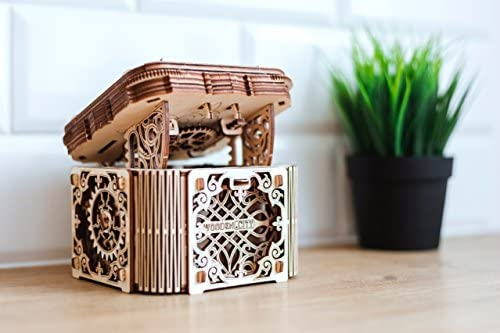 Wooden City 3D Puzzle Building Mechanical Mystery Box Model WR315