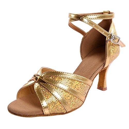 Kevin Fashion ,  Damen Tanzschuhe , Gold - gold - Größe: 35.5