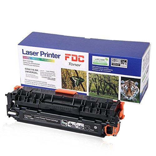 FDC Toner 304A Cc530A 118 Toner Black Compatible for HP Color LaserJet Cp2025dn Cp2025n CP2025x CP2025 Cm2320fxi Cm2320n CM2320nf, Canon ImageCLASS MF726Cdw LBP7660Cdn toner cartrides 3,500 Page Yield