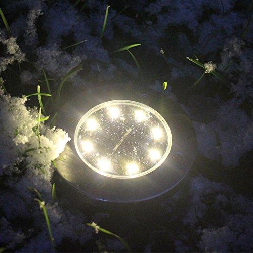 5LED Solar Power Buried Light Under Ground Lamp Path Way Garden Decking#UKI