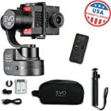 EVO SS 3 Axis Wearable Gimbal - Stabilizer for GoPro Hero4 - Hero5 - Hero6 Black - Yi 4K+ - Garmin Virb Ultra 30-1 Year USA Warranty | Bundle Includes: EVO SS Gimbal + Extra Batteries + Wireless Remote