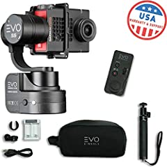 EVO SS 3 Axis Wearable Gimbal for Action Cameras The EVO SS 3 axis wearable gimbal allows you to effortlessly shoot silky smooth video with your action camera. The EVO SS works with a wide range of popular action cameras such as the GoPro Her...