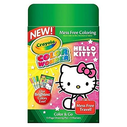 Image Unavailable. Image not available for. Color  Crayola Color Wonder  Mini Pad   Markers - Hello Kitty cd0d1e8094ada