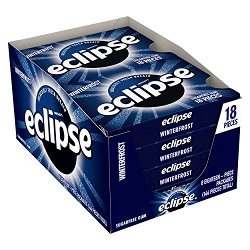 Eclipse Winter Frost Sugarfree Gum, 18 Piece (Pack of 8) ()