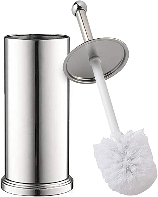 Stainless Steel Toilet Brush with Bowl Holder