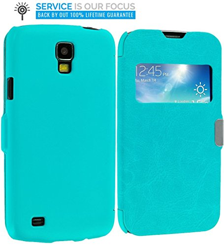 Galaxy S4 Active Wallet, TechSpec(TM) Baby Blue (Open) Magnetic Flip Wallet Case Cover Pouch for Samsung Galaxy S4 Active i537