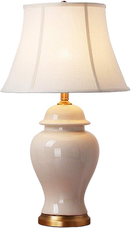 Lámpara de mesa de cerámica E27 Lámpara de mesita de noche ...