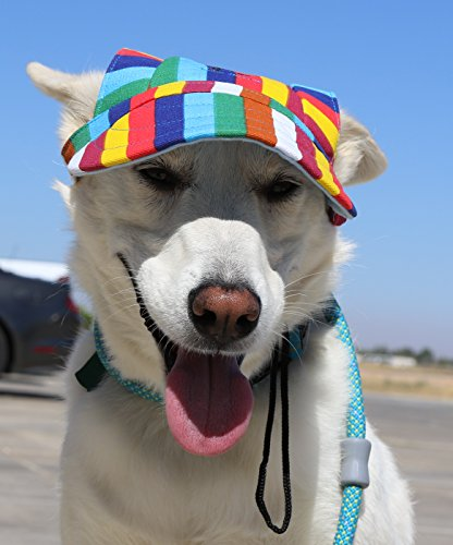 LoveWally Dog Outdoor PET Hat Rainbow ♦ Adjustable Authentic (Large) by LoveWally (Image #9)