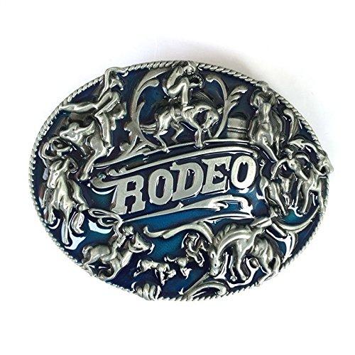 Belt Buckle Rodeo Race Cowboy Western Cowboy Rodeo Horse Riding Bull Rider Lot Metal Mens - American Bull Rider Buckle
