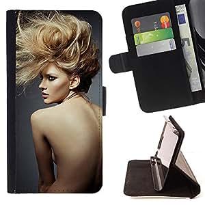 NAKED WOMAN SEXY HAIRCUT HAIRSTYLE/ Personalizada del estilo del dise???¡Ào de la PU Caso de encargo del cuero del tir????n del soporte d - Cao - For HTC One M8