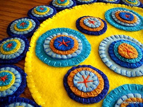 Nakpunar 30 pcs 4 inches Royal Blue Felt Circles 4 inch, Crayon Blue Made in USA